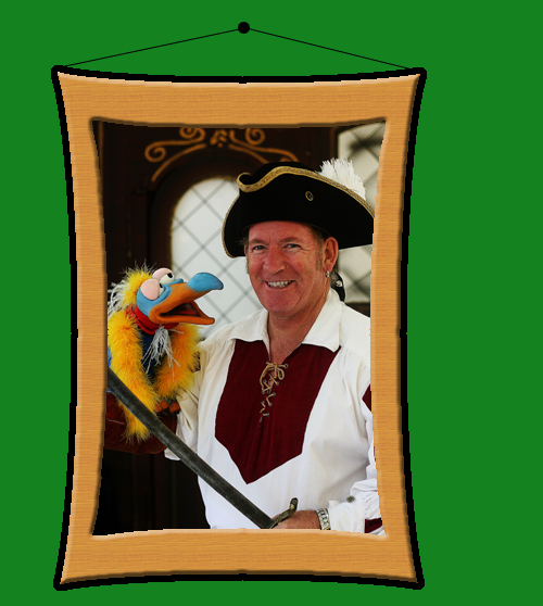 Jolly Jim the Pirate with Bird